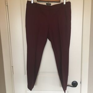 J. Crew Minnie pants in burgundy Sz 10